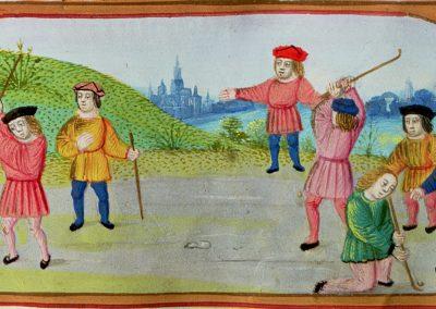 Getijdenboek, vellum Vlaamse school - Het kolfspel, Museo Patriarca, Valencia, Spanje 2