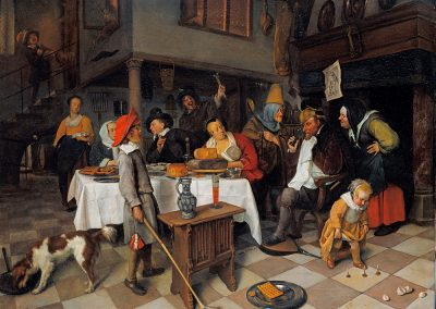 Steen, Jan - Drie Koningenfeest, Royal Collection 1